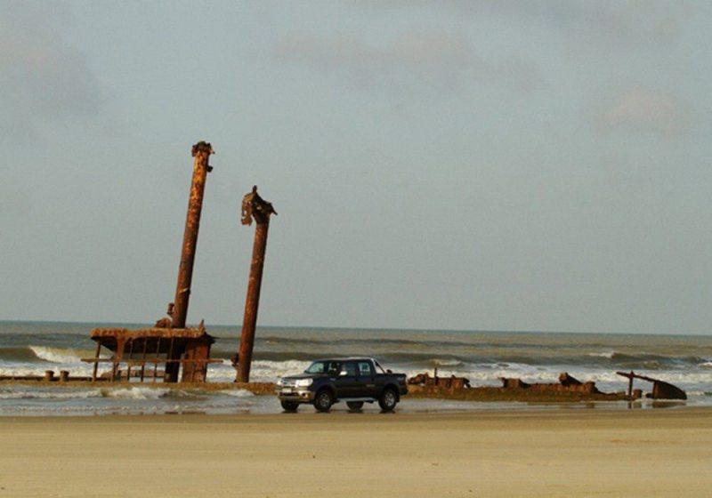 Maior faixa de praia