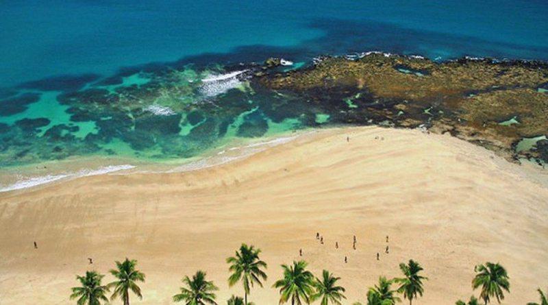 O paraíso colorido por recifes de corais