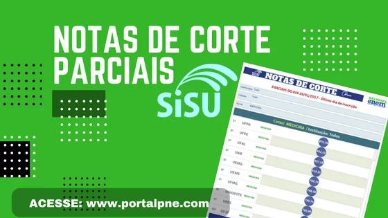 NOTAS DE CORTE PARCIAIS SISU 2018