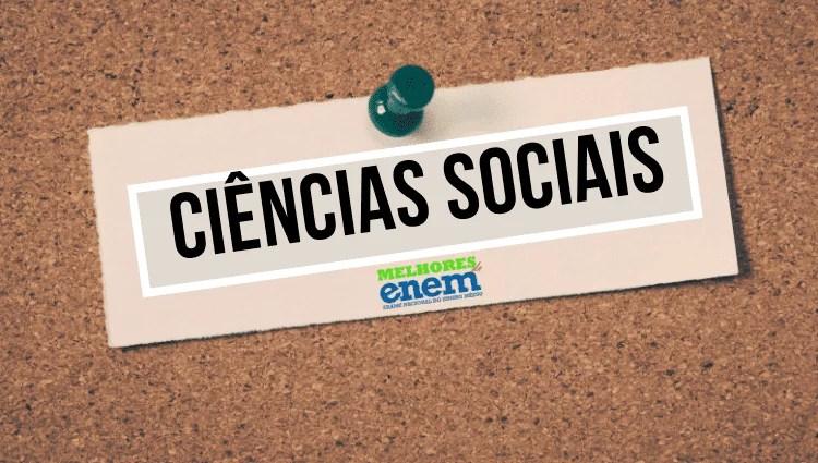 Notas de corte Ciências Sociais
