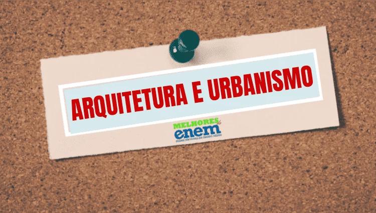 Notas de corte Arquitetura e Urbanismo