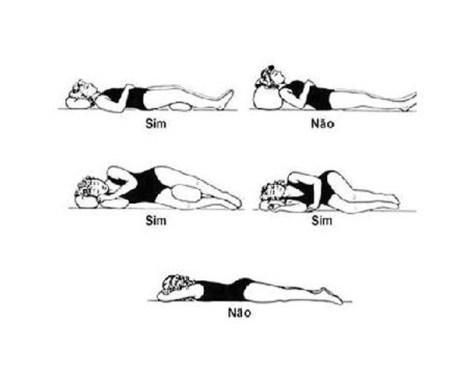 Posições correctas e erradas para dormir