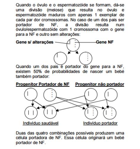 Neurofibromatose esquema de transmissão genética