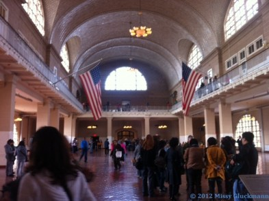 In the Registry Room, inspectors questioned each individual. They were asked 29 questions. Those allowed to pass continued downstairs, exchanged money, brought provisions and perhaps a rail ticket. One third stayed in NYC. Only 1 - 2 % were denied entry.