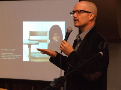 Todd talks about his work with Muslims in NC (self portrait project)...