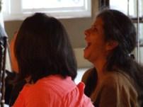 Maria's reaction to Glenn's spoken word.