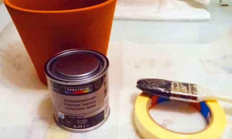 krijt verf en tera cotta potten