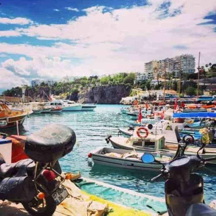 Haven Antalya met bootjes