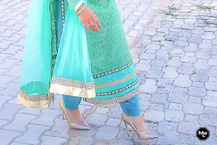 Henna, Mehndi, Kina Gecesi outfit Salwar Kameez - gouden hakken