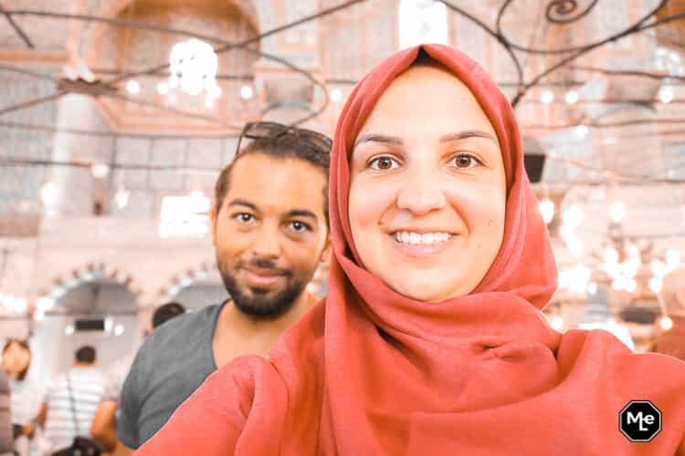 Bezienswaardigheden in Istanbul-gepaste kleding moskee