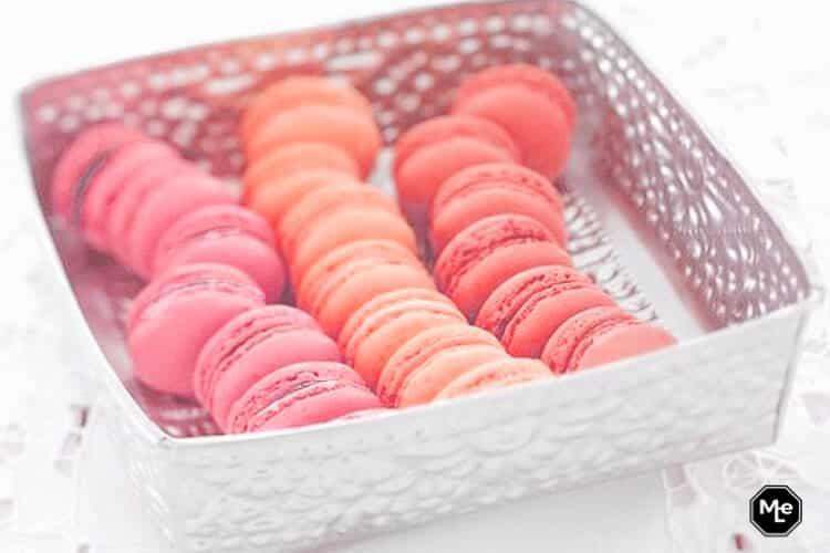 Macarons met Frambozen vulling