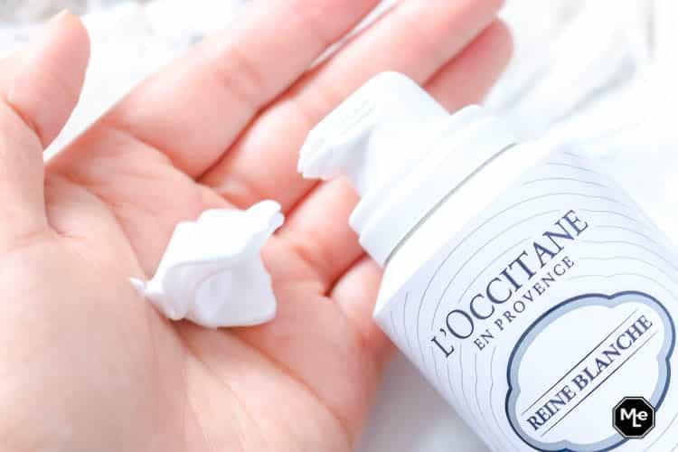 huidverzorging tijdens de zwangerschap - L'occitane reine blanche mousse