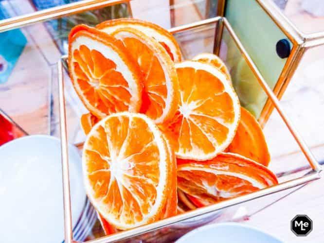 gedroogde sinaasappel schijfjes