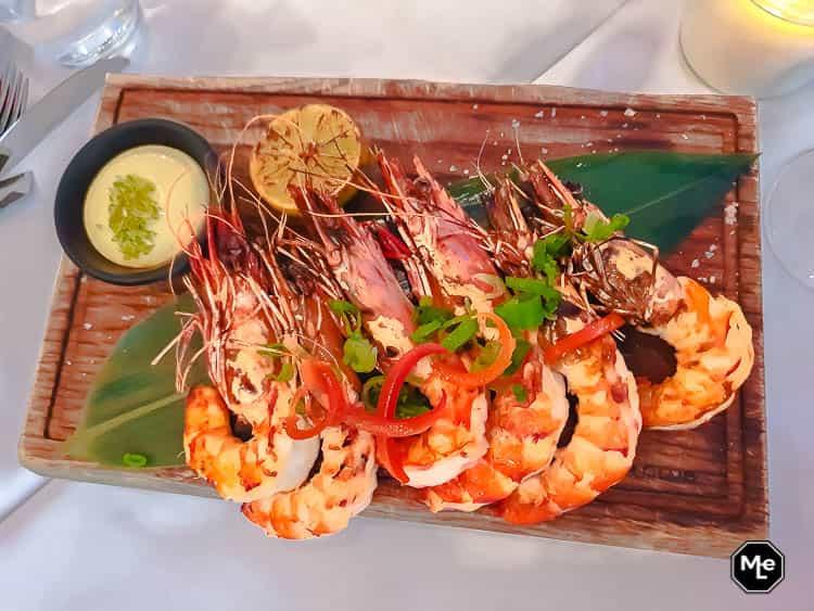 Garlic shrimps - The Harbour Club Rotterdam