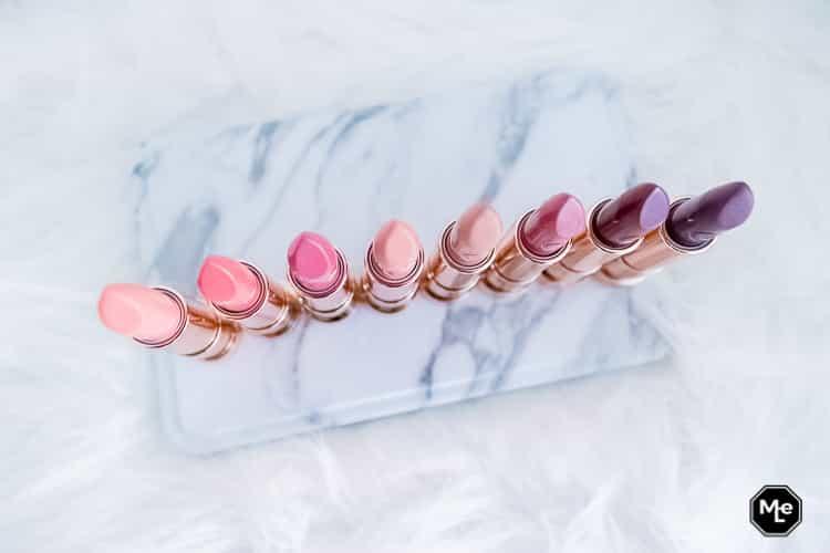 alle 8 Essence This Is Me lipsticks bovenaanzicht