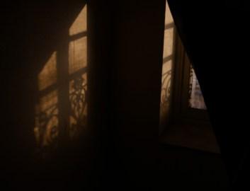 SEMAINE 5 - Prisonnière, dans l'escalier elle se terre, s'accrochant à l'ombre de la fenêtre, comme à l'espoir de renaître