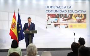 Sánchez prevé iniciar la vacunación de alumnos de ESO y Bachillerato dos semanas antes del curso