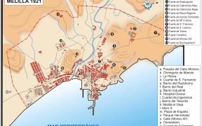 Mapa de Melilla