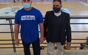 Rachid y Junior jugadores del C.B. Minusval