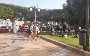 Manifestación Solidary Wheels