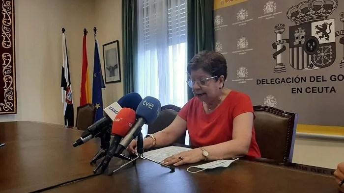 Salvadora Mateos, delegada del Gobierno de España en Ceuta