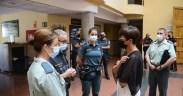 La directora general de la Guardia Civil, María Gámez, ha visitado este miércoles el perímetro fronterizo de Melilla tras mantener una reunión con los mandos del Cuerpo en la ciudad autónoma