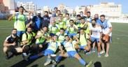 Plantel del C.D. Intergym de Melilla que conquistó el campeonato de Liga en el curso pasado en la Regional Preferente de Melilla