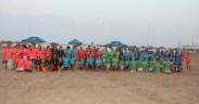 Campeonato de Fútbol Playa Infantil Femenino, organizado de forma conjunta por la Real Federación Melillense de Fútbol y la Fundación Sociocultural y Deportiva de la RFMF