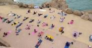 Las jornadas de yoga se han celebrado en 'El mirador de África', en los altos de la Alcazaba