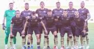 Conjunto del C.F. Intercity, rival del Melilla, en uno de sus partidos del inicio de Liga