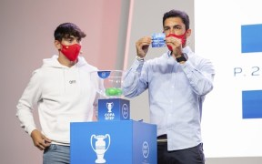 Imagen del sorteo de Copa Federación