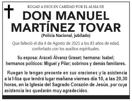 ESQUELA- Don Manuel Martínez Tovar