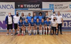 Expedición melillense que se desplazó a Burela para disputar el primer partido de Liga