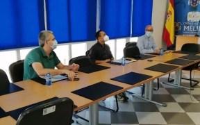Imagen de la reunión de ayer lunes