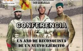 Cartel de la conferencia 'Un año de reconquista de un nuevo Ejército',