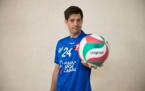 Mariano Giustiniano, receptor del Club Voleibol Melilla