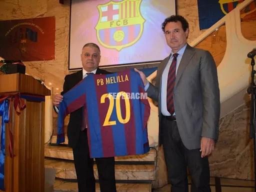 Javier Martínez junto a Ricardo Serna