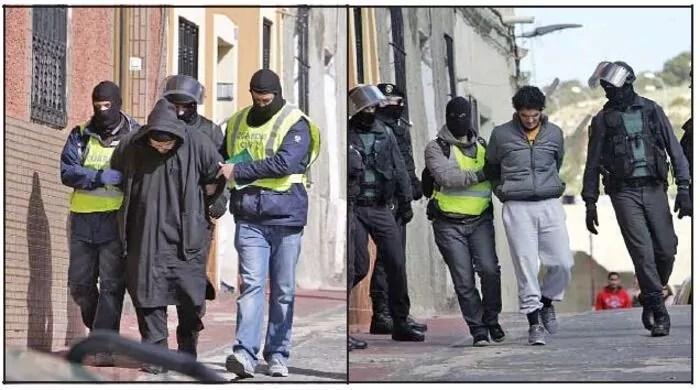 Imágenes de los detenidos
