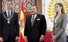 Reyes de España con el rey de Marruecos