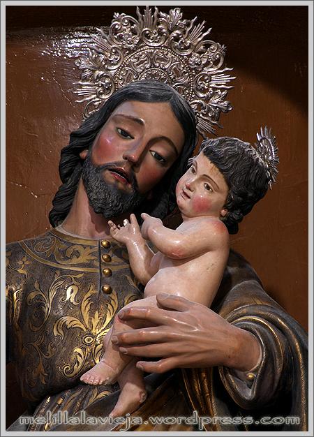 San José y el niño Jesús en el Altar Mayor de la Iglesia de la Concepción