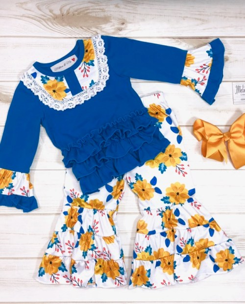 Melina & Me - Sapphire & Citrus Outfit