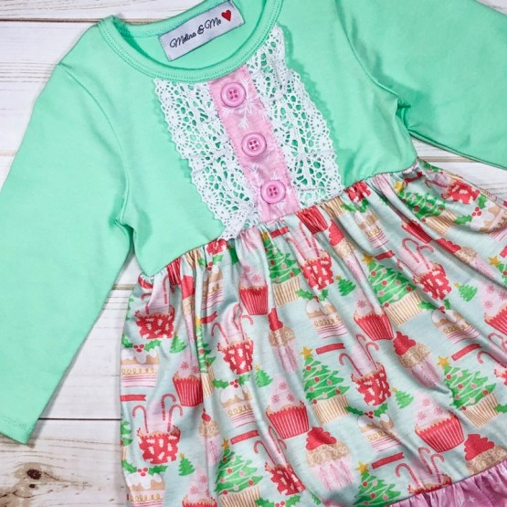 Melina & Me - Christmas Cupcake Dress (Front 2)