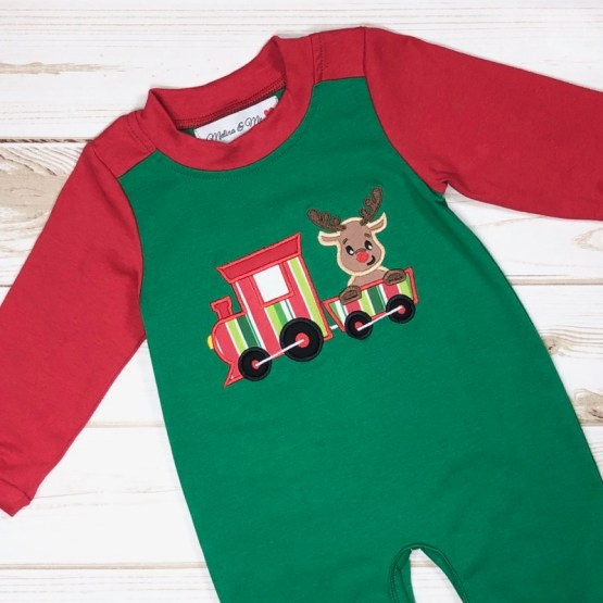 Melina & Me - Reindeer Train Jumper (Front)