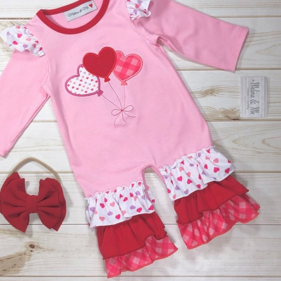 Melina & Me - Sweetheart Romper (Front)