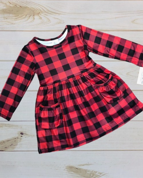 Melina & Me - Buffalo Plaid Dress