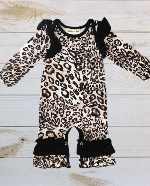 Melina & Me - Leopard Romper (Long Sleeve)