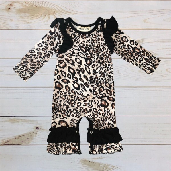 Leopard Romper (Long Sleeve)