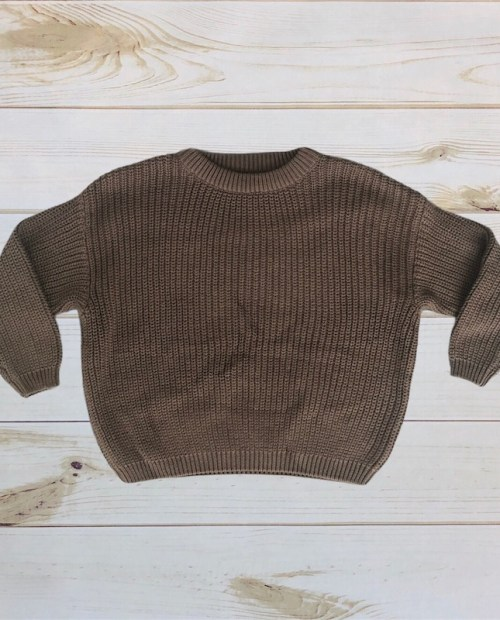 Melina & Me - Oversized Knit Sweater (Deep Olive)