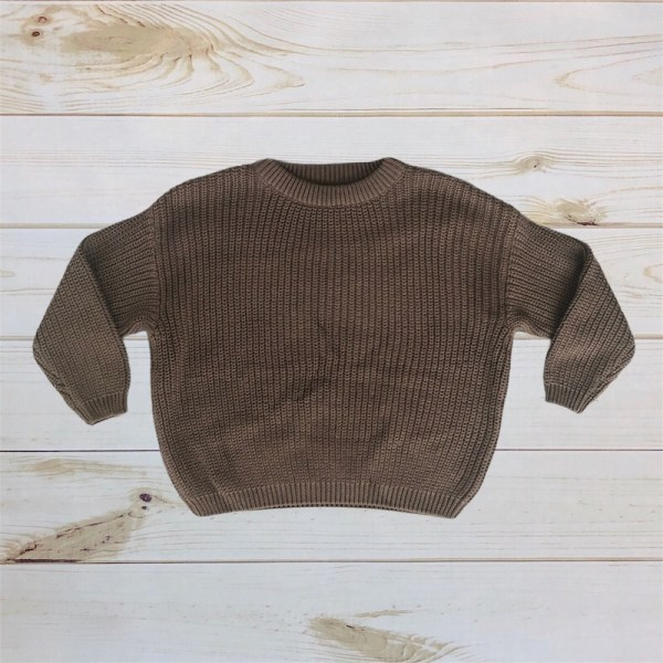 Oversized Knit Sweater (Deep Olive)