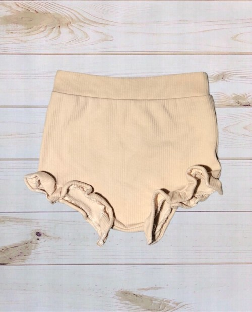 Melina & Me - Ribbed Ruffle Bloomers (Cream)